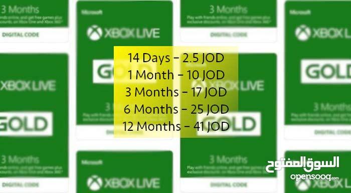Xbox Live Gold Code Global