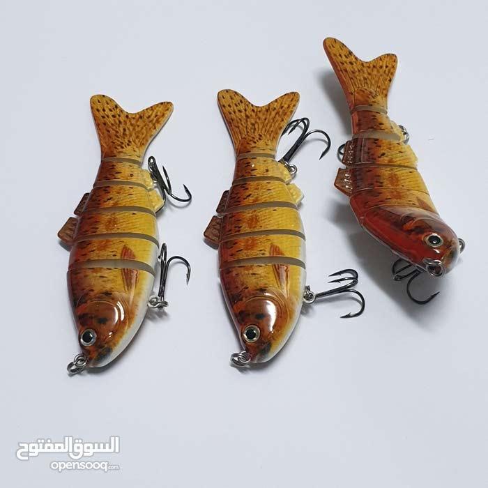 طعم سنارة هوك لصيد الاسماك 3 قطع