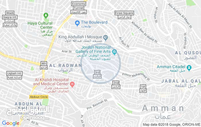 Best price  sqm apartment for rent in Amman3rd Circle
