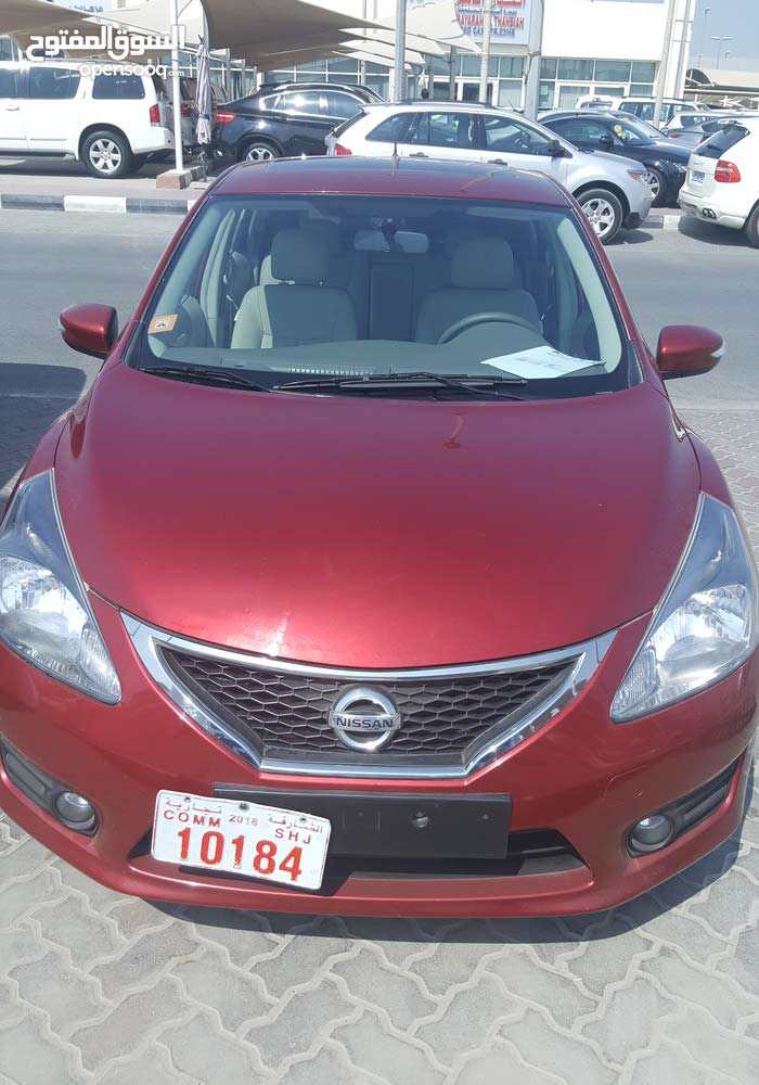 Red Nissan Tiida 2015 for sale