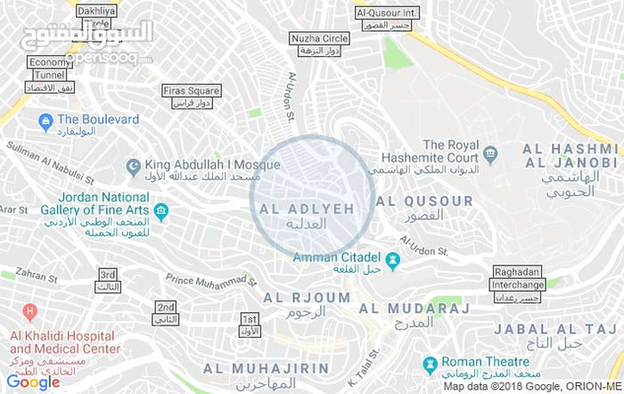 Ground Floor  apartment for rent with Studio rooms - Amman city Downtown