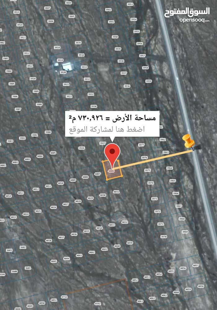 فرصه للبيع ارض سكنيه في طيمساء 1 كونر ثالث قطعه من الشارع مساحتها 729م