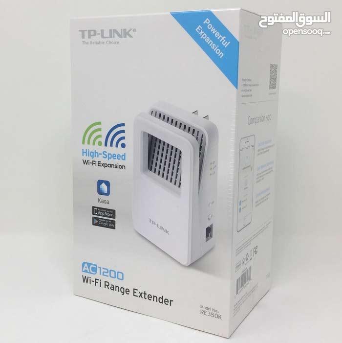 مقوي إشارة واي فاي/ موسّع شبكة WiFi Extender Tp link AC1200 يعمل على تردد  2 4 و 5 جيجا هيرتز