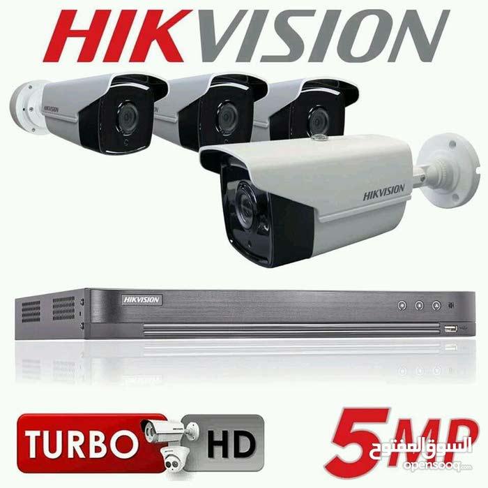 بيع وتركيب وصيانة كاميرات مراقبة صورة جدا واضحة مع جهاز تسجيل وكافة التجهيزات