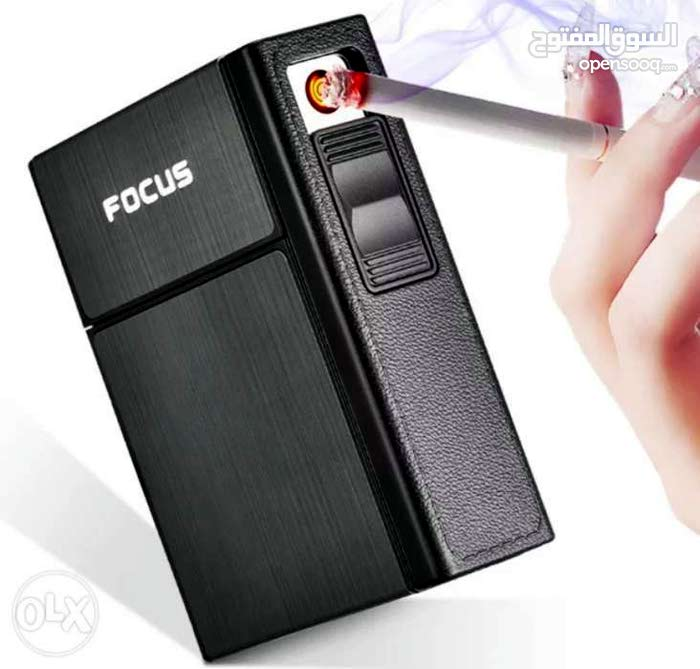 automatic cigarette case with 20 cigarettes holders with USB charger