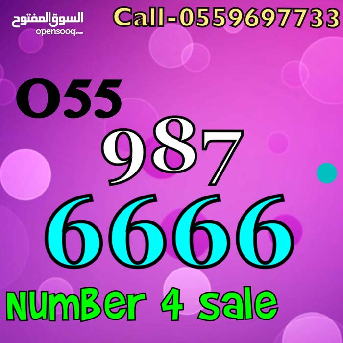 055 9 8 7 6666 number on sale
