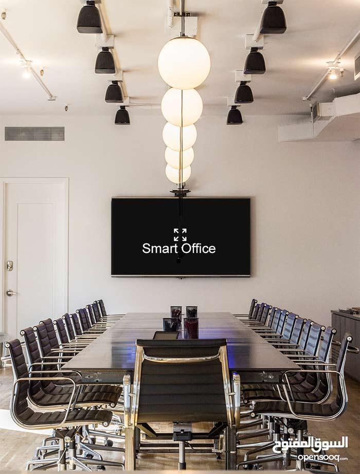 مكتب ذكي للبيع  واجهة امامية مطل علي شارع دوحة الادب مساحة124متر