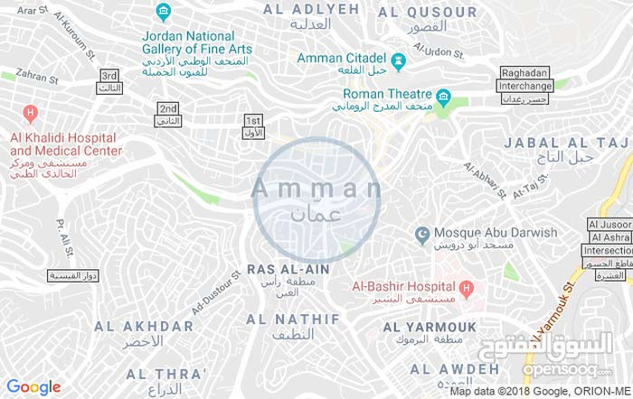 Ground Floor  apartment for rent with 2 rooms - Amman city University Street