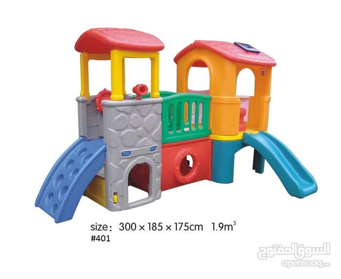 Plastic Castle With 2 Slide For Kids