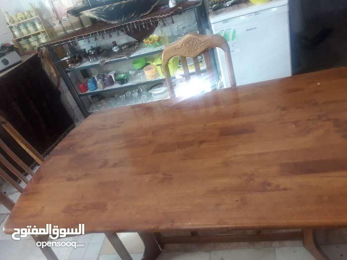 طاولة سفرة مع 4 كراسي خشب ماليزي