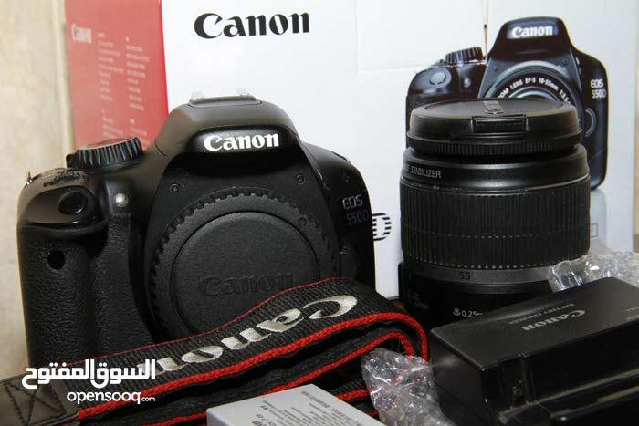 كانون 550D - Canon - مع كامل ملحقاتها  استعمال منزلي خفيف بالباكو