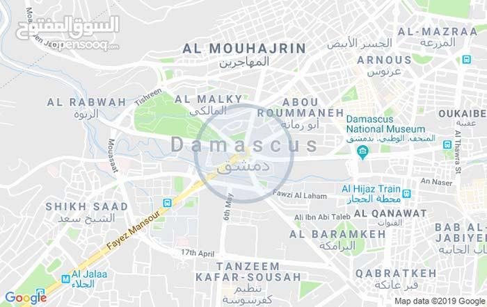 شقة في دمشق أبو رمانة شارع شكيب أسلان مقابل جامع الحسن وكنيسة يوحنا المعمدان
