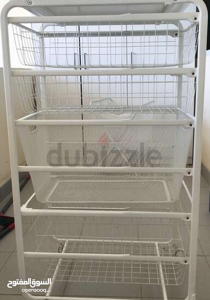 Ikea Algot Frame With Mesh Baskets 2 Big 2 Small And Top Shelf