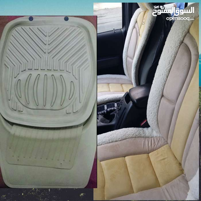 طقم قيم جدا لمقاعد السيارة الامامية وطقم دواسات 5 قطع