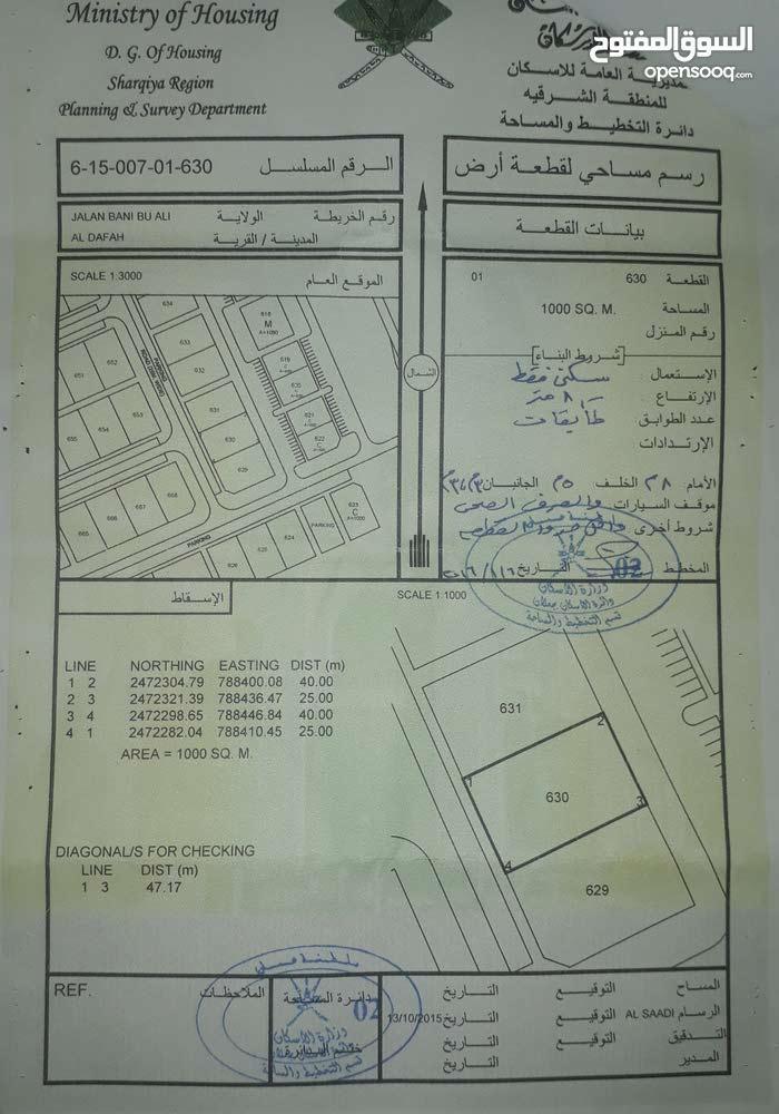 ارض 1000م للبيع - سياح مطار راس الحد الجديد جناب دوار مطار راس الحد