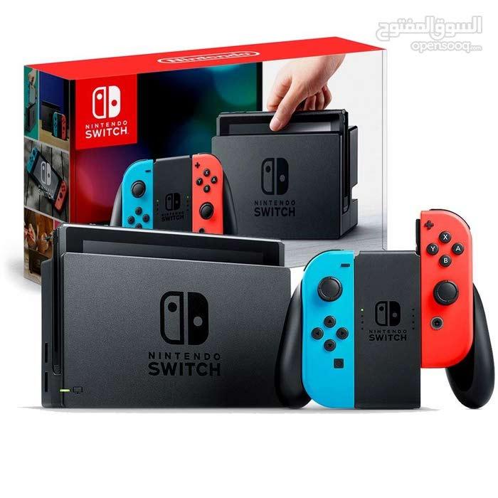 Nintendo Switch neon consoles