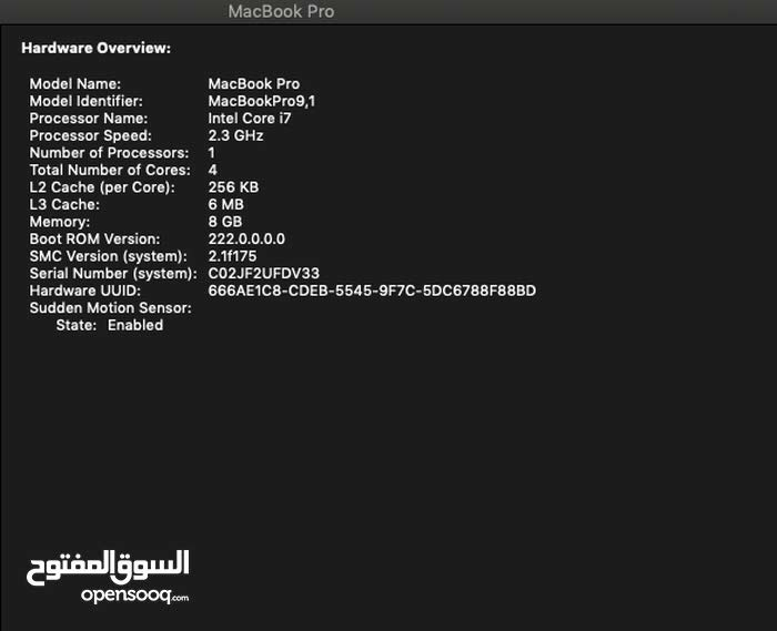 Apple Macbook Pro Mid2012 i7 2.3Ghz quad core 8G 15in 500G SSD