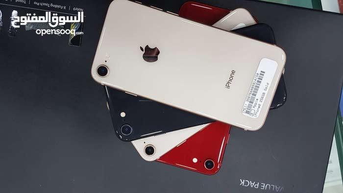 ايفون 8 عادي 64 و 256 جيجا جديد مستبدل من ابل  بسعر رووعه