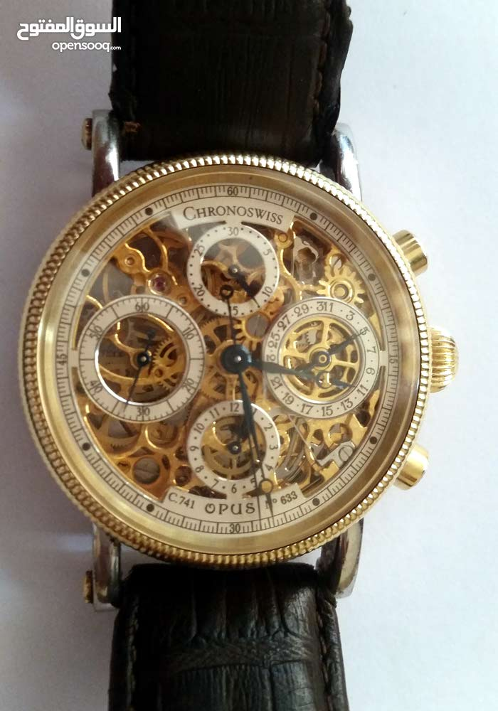 chrono swiss gold watch