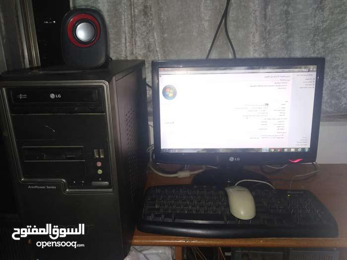 كمبيوتر معالج زيون يعادل i5 رام 2 جيجا  هاردسك 500 جيجا شاشه 18.5 رفيع lg