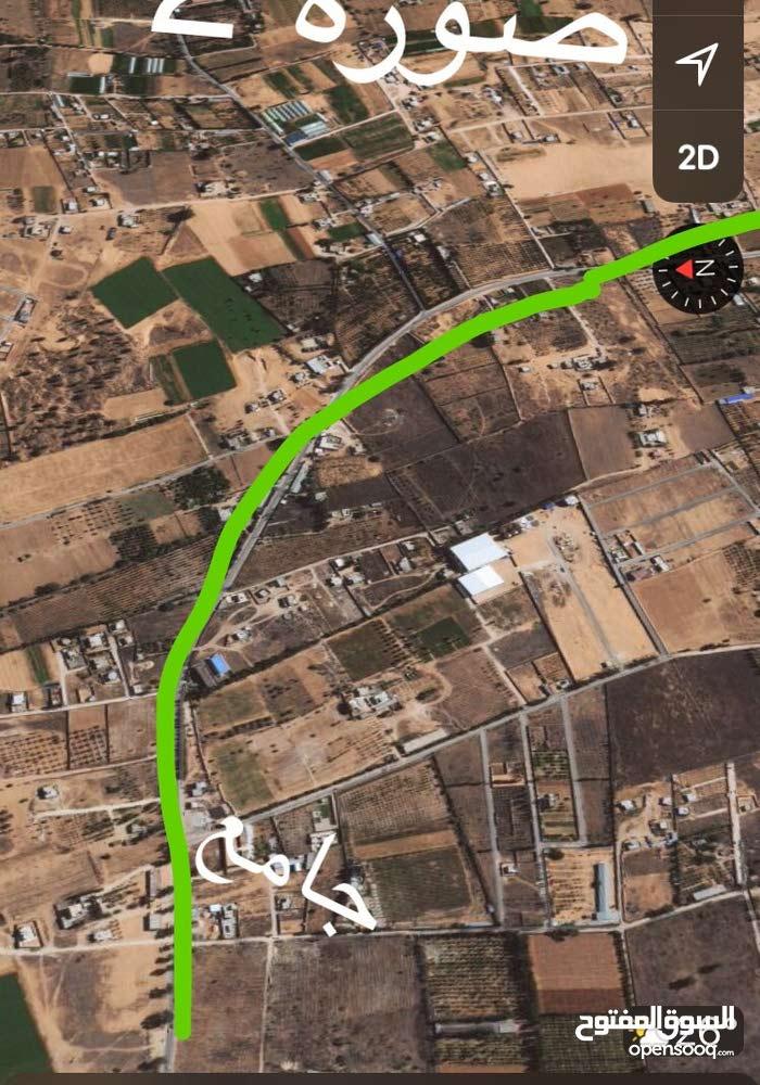 قطعة ارض 1000 متر بعد مصنع دقيق ب7كيلو
