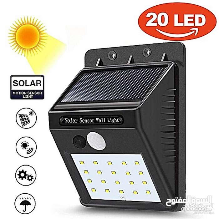 كشاف شحن طاقة شمسية بحساس حركه