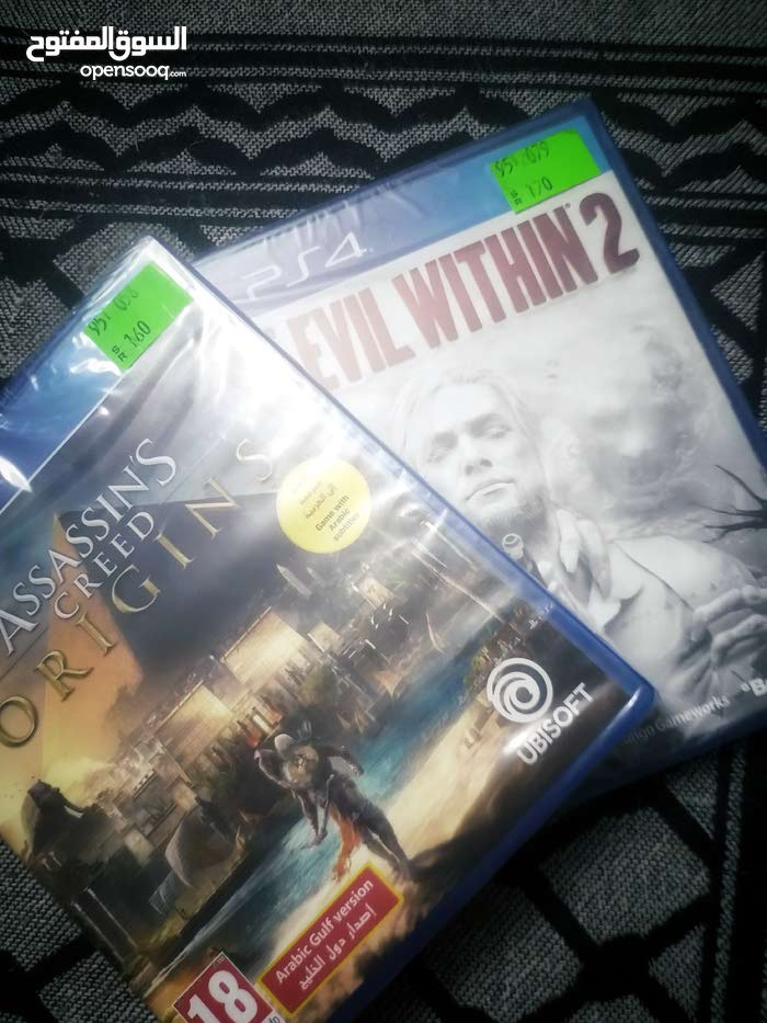 PS4 Cheap cds Assassin's creed Origins and evil within