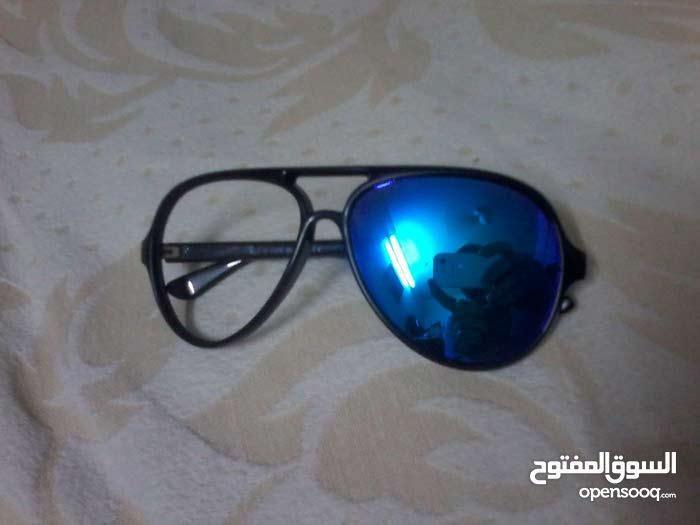 نظارة راي بان أيطالية بلاستيك أسود و عدسات زرقاء