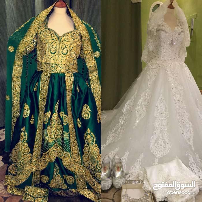 فستان زفاف ايجاره 200 ريال ..وفستان  ليله الحناء للايجار ب 100 ريال