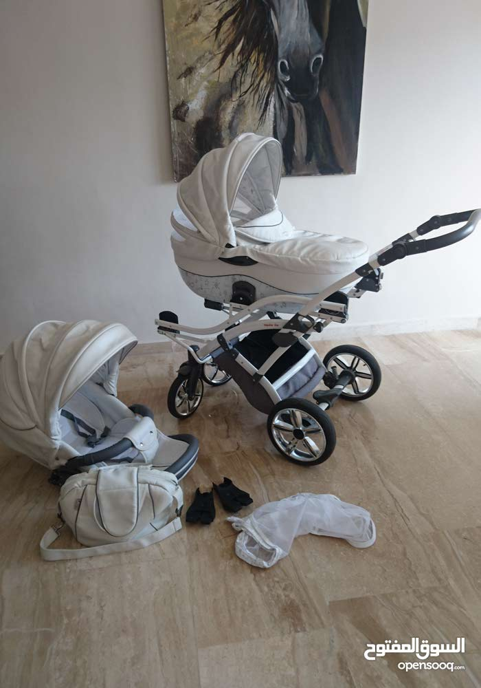 junama Stroller with adapter for car seat and leather bag and adapt to twins