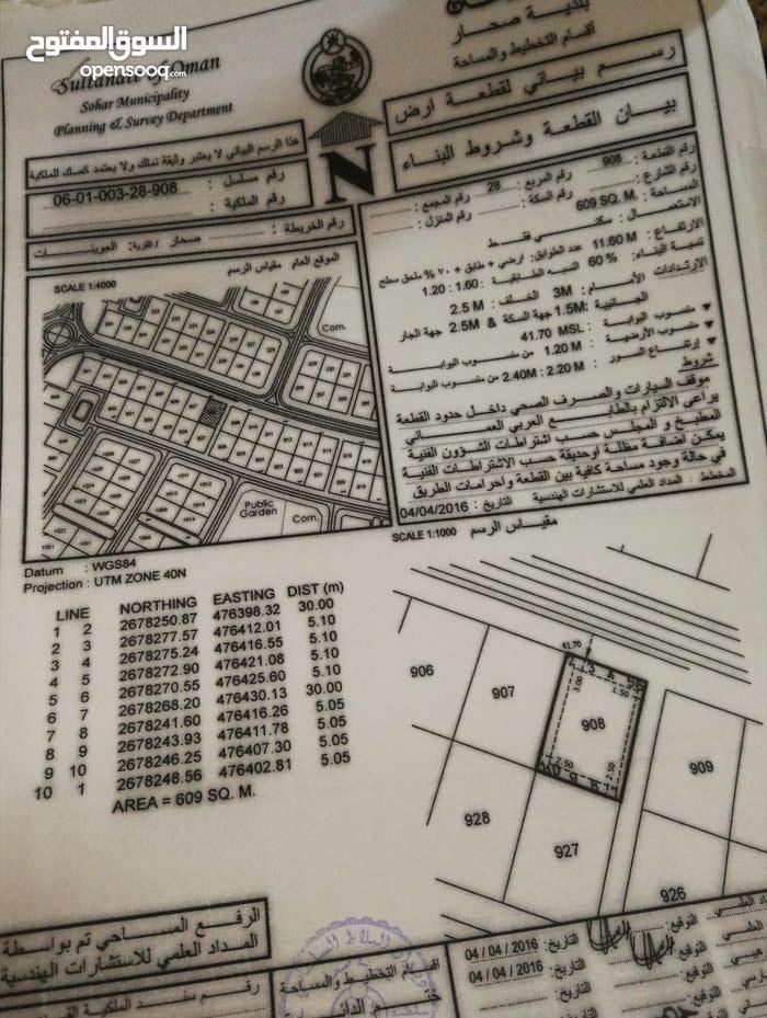 ارض سكنية بمنطقة العوينات بولاية صحار
