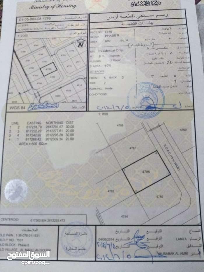 أرض سكني للبيع قريب مركز تجاري نستو المعبيله