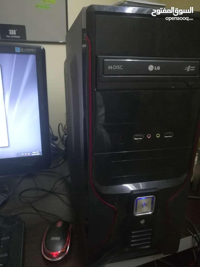 كمبيوتر مكتبي 4جيجا رام قابل زيادي 8 جيجا 500 هارديسك شاشه سامسونج 20 انش تاتش