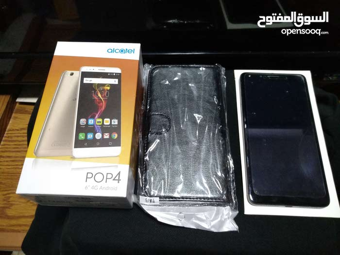 Alcatel pop 4 6(7070x) grey color+new leather case/screen protector