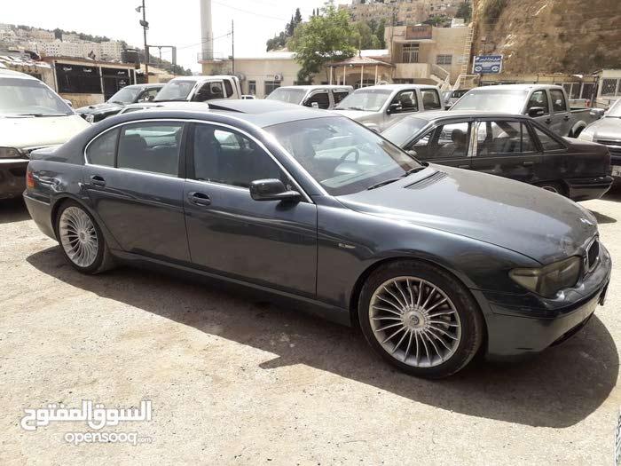 Blue BMW 745 2003 for sale