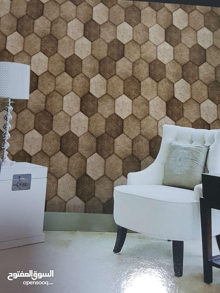عررروض نارية ورق جدران مطرز كوري نخب اول فقط 70د شامل اجور التركيب