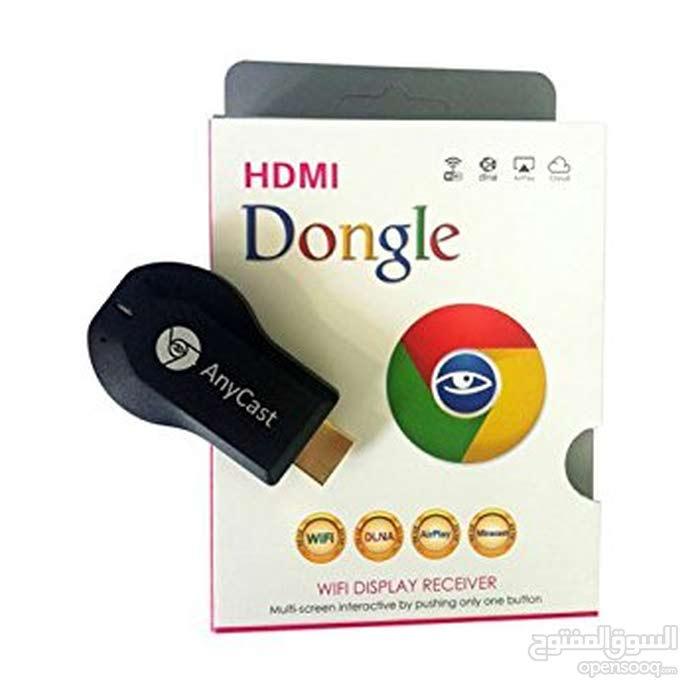 حول شاشة تلفزيونك إلى شاشة سمارت مع وصلة hdmi anycast والتوصيل مجاني