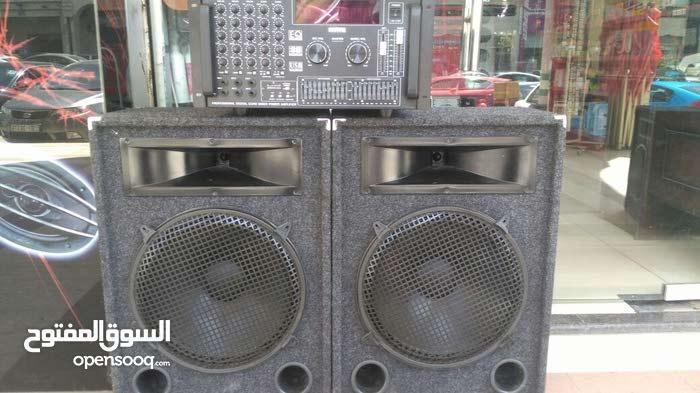 سماعات DJ إيطالي 15 انش + امبلفير مكسر
