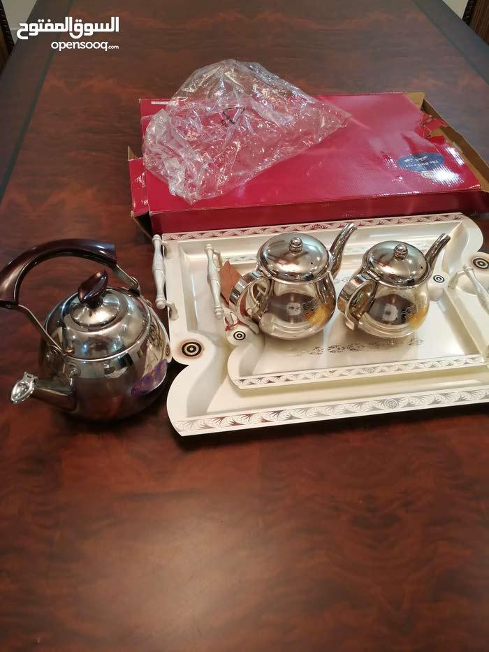 صحون شاي  وبرادين شاهي السيف وبراد شاي صيني