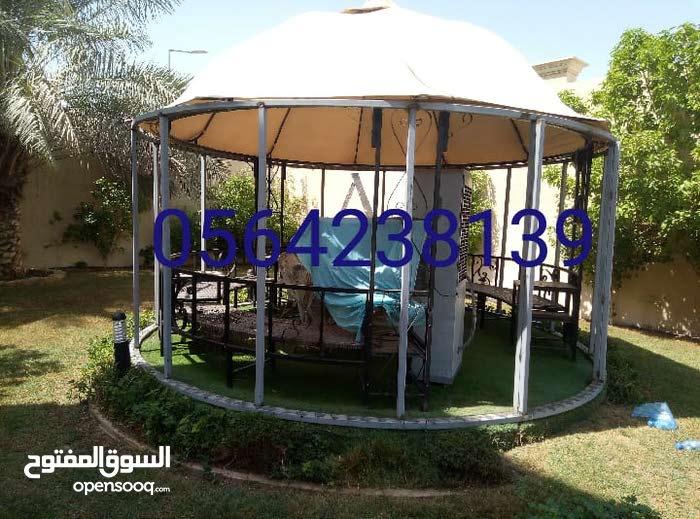 مظلات وسواتر وبرجولات الرياض وجميع أعمال الحداده 0556442033