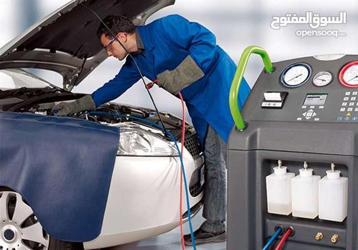 تعبئة غاز وصيانة التسريب مكيفات جميع السيارات ...ونجوك لعندك- خبرة 20 سنة
