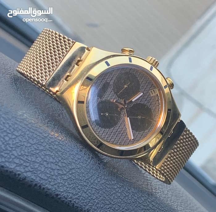 ساعة سواتش اصلية (لون ذهبي)