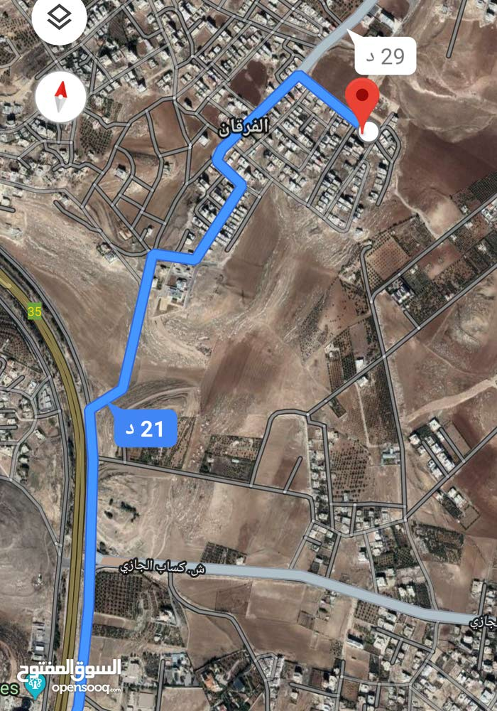 للبيع ارض 402 م في اليادوده طريق المطار