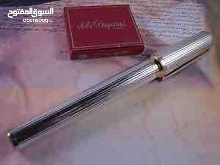 قلم دوپون كلاسيكي مونت پارناس Dupont Montparnasse من الفضة المطلية.