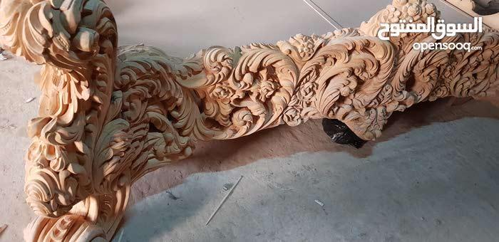 غرفة نوم حفر ملكية خشب زان 100% ،حفر يدوي ،الخشب ناشف وجاهز للبخ فورا