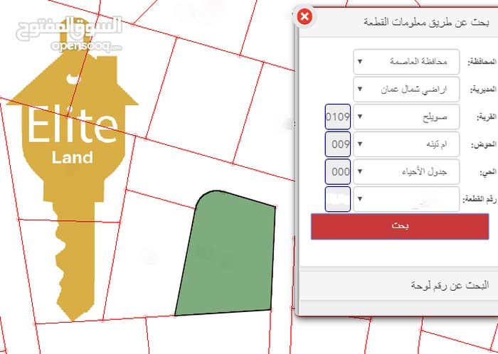 قطعه ارض للبيع في الاردن - عمان - دابوق بمساحه 1096متر