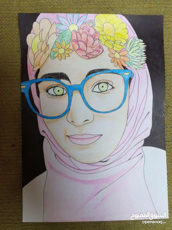 رسم أشخاص بالفحم وبالألوان