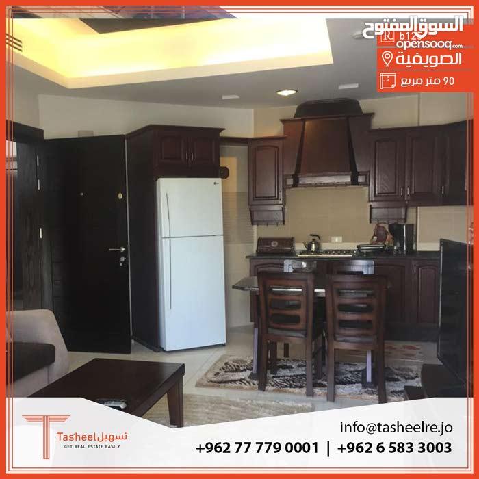 Swefieh neighborhood Amman city - 90 sqm apartment for rent