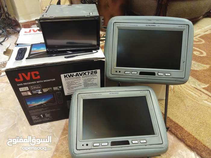 مسجل شاشه JVC الاصلي + شاشتين ركاي X5