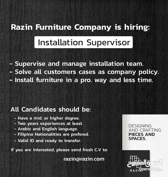 Furniture Installation Supervisor (Fillipino only)